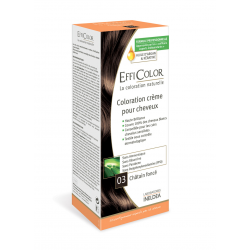 Coloration Crème EffiColor® 03-Châtain Foncé
